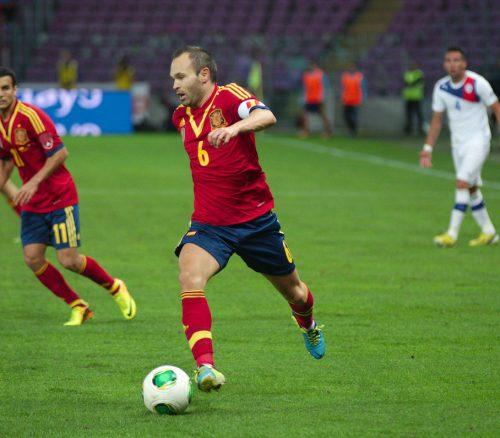 Spain - Chile - 10-09-2013 - Geneva - Andres Iniesta