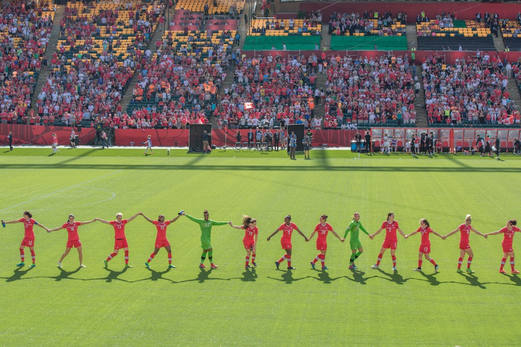 Canadian Women's National Football Team, FIFA Women's World Cup 2015. Photo: IQRemix