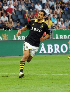 Borges for AIK Fotboll, 2014. Photo: Anders Henrikson