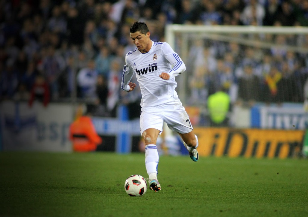 Cristiano Ronaldo; grew up playing in the streets of Madeira. Photo: © Maxisports