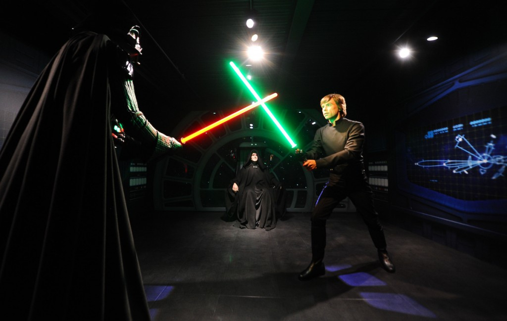 Luke Skywalker battles his father, Darth Vader in a classic scene of good vs evil. Photo: Tim Whitby