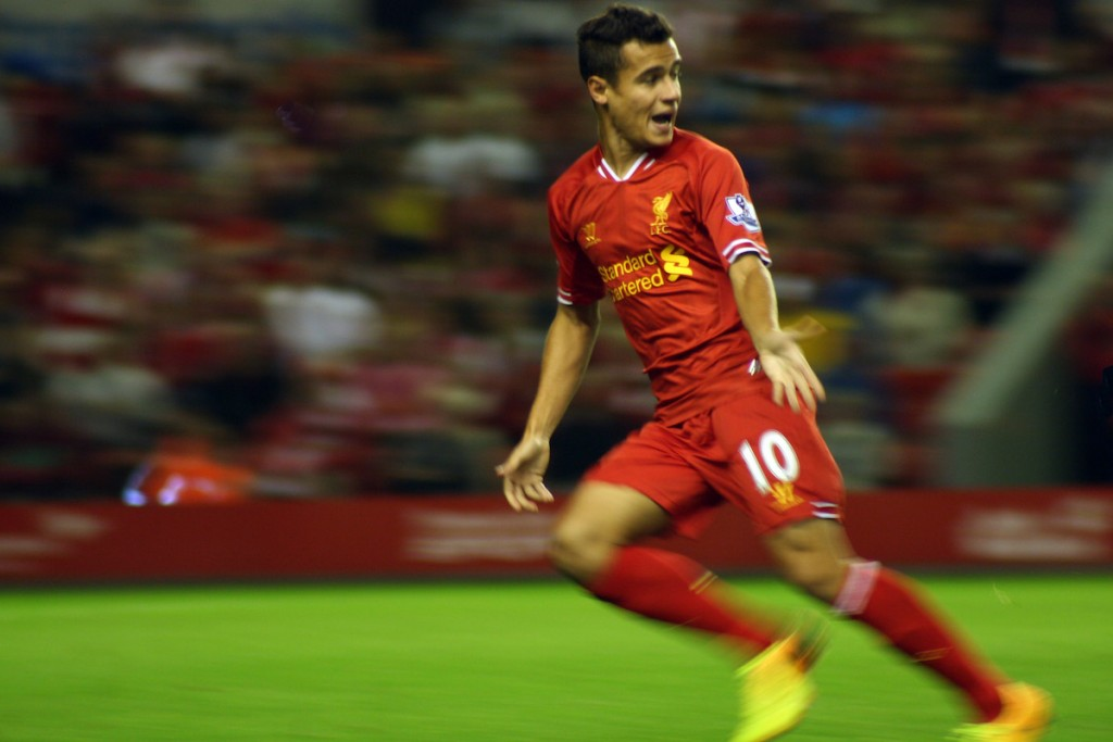 Philippe Coutinho for Liverpool, 2013. Photo: Kevin Walsh