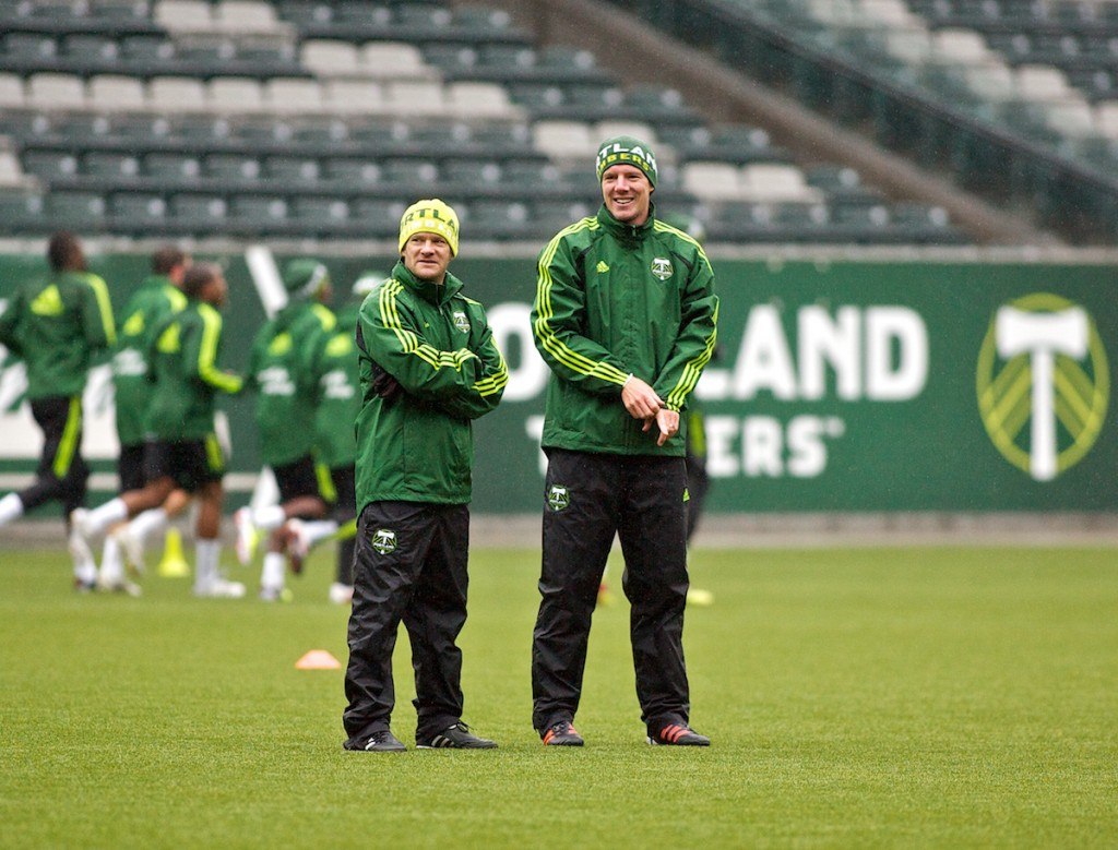 Timbers Assistant Coaches. Photo: Craig Mitchelldyer/Portland Timbers