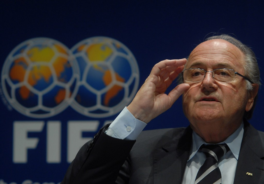 Sepp Blatter, FIFA President, during the announcement of the 2014 World Cup hosts, 2007. Photo: Marcello Casal Jr. / ABr - Agencia Brasil