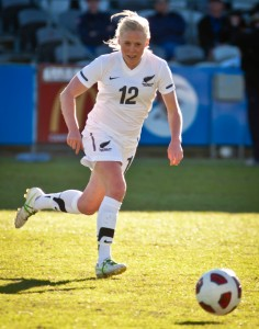 Betsy Hassett, midfield star for New Zealand and Manchester City. Photo: Camw