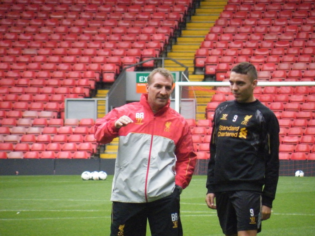 Brendan Rodgers (left), voted Manager of the Year 2013/14, with Iago Aspas. Photo: Kev Ruscoe