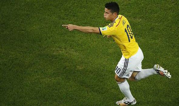 James Rodriguez for Colombia Photo: actusports
