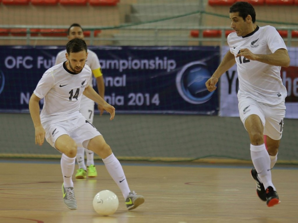 The Author, James Vaughan, in a recent Futsal game for New Zealand