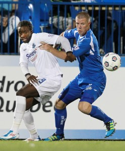 Knowles (right) during his season with Montreal Impact. Photo: Montreal Impact/Pepe