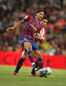 Zlatan Ibrahimovic is regularly showing his ability to improvise under pressure. Photo: Maxisports