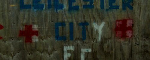 Graffiti around the Leicester City Filbert Street stadium.
