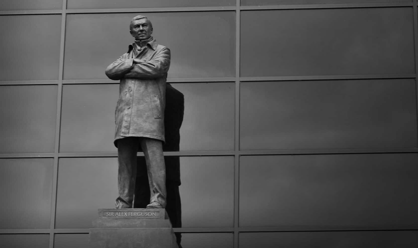 Sir Alex Ferguson statue outside Old Trafford.