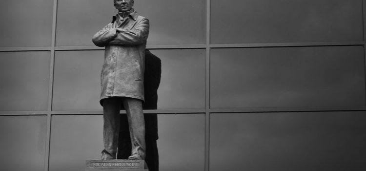 Sir Alex Ferguson statue outside Old Trafford.