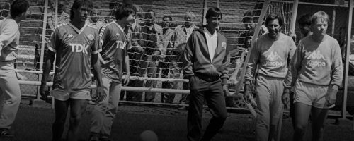 Johan Cruyff during an Ajax training session.