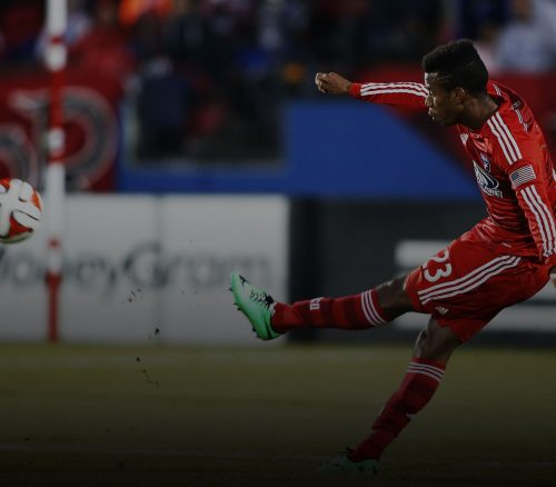 Kellyn Acosta for FC Dallas, against Montreal Impact. Photo: R. Yeatts