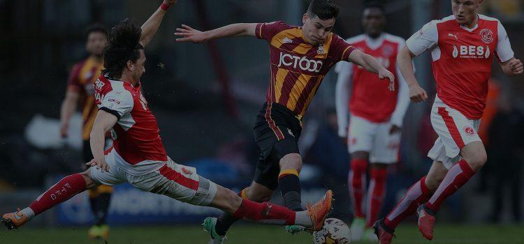 Josh Cullen for Bradford City. Photo: Martin Rickett - PA Images / Contributor