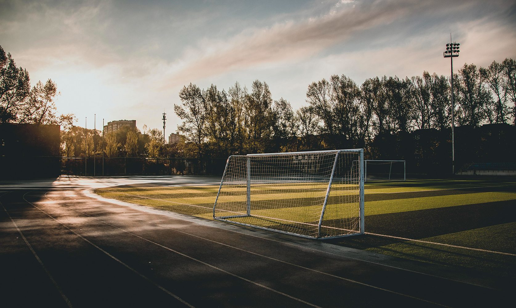 Soccer Goal Sunset