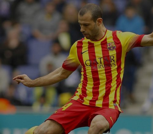 Javier Mascherano for FC Barcelona.