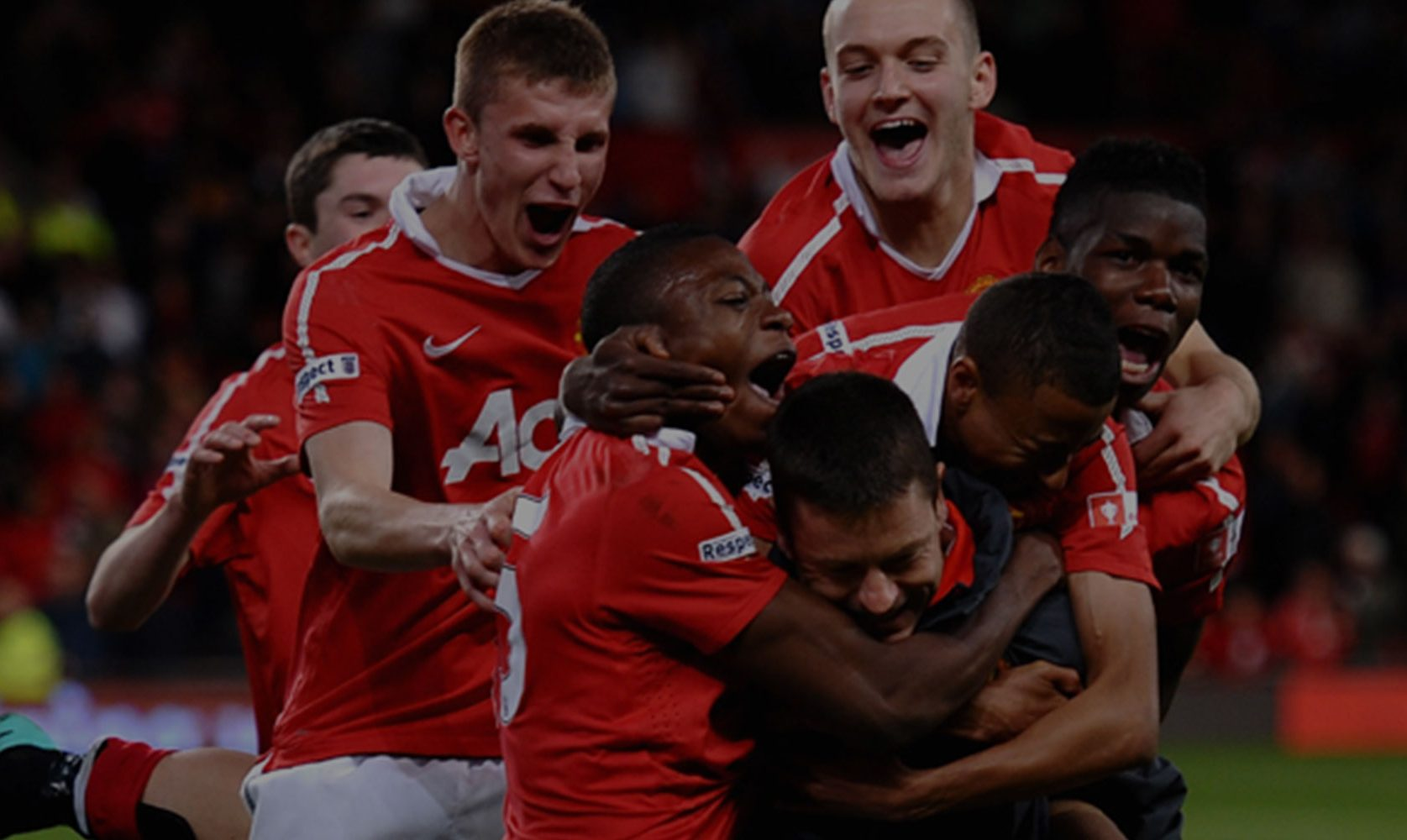 Paul McGuinness of Manchester United celebrates.