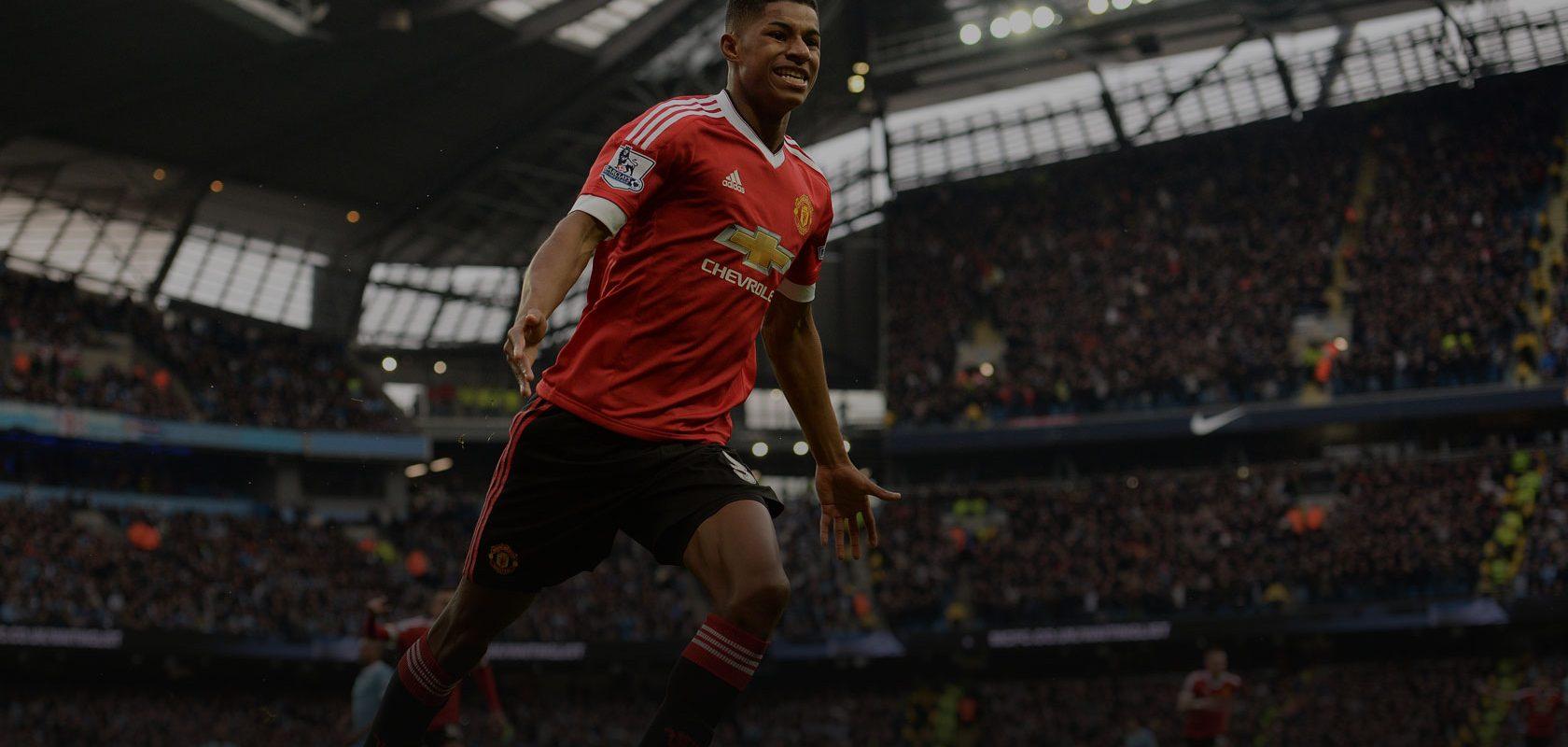 Marcus Rashford for Manchester United. Photo: OLI SCARFF / Stringer