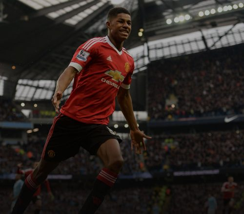 Marcus Rashford for Manchester United. Photo: OLI SCARFF / Stringer