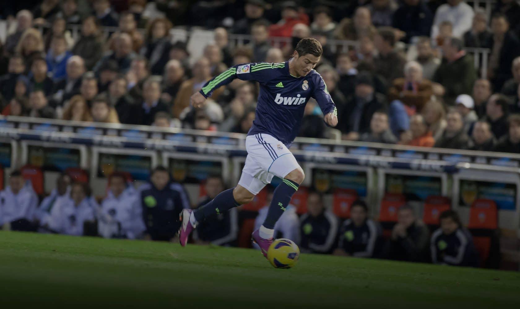 Ronaldo for Real Madrid. Photo: efecreata