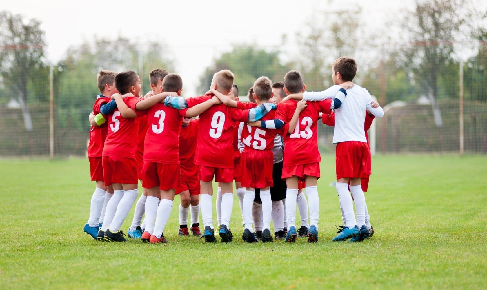 kids training soccer