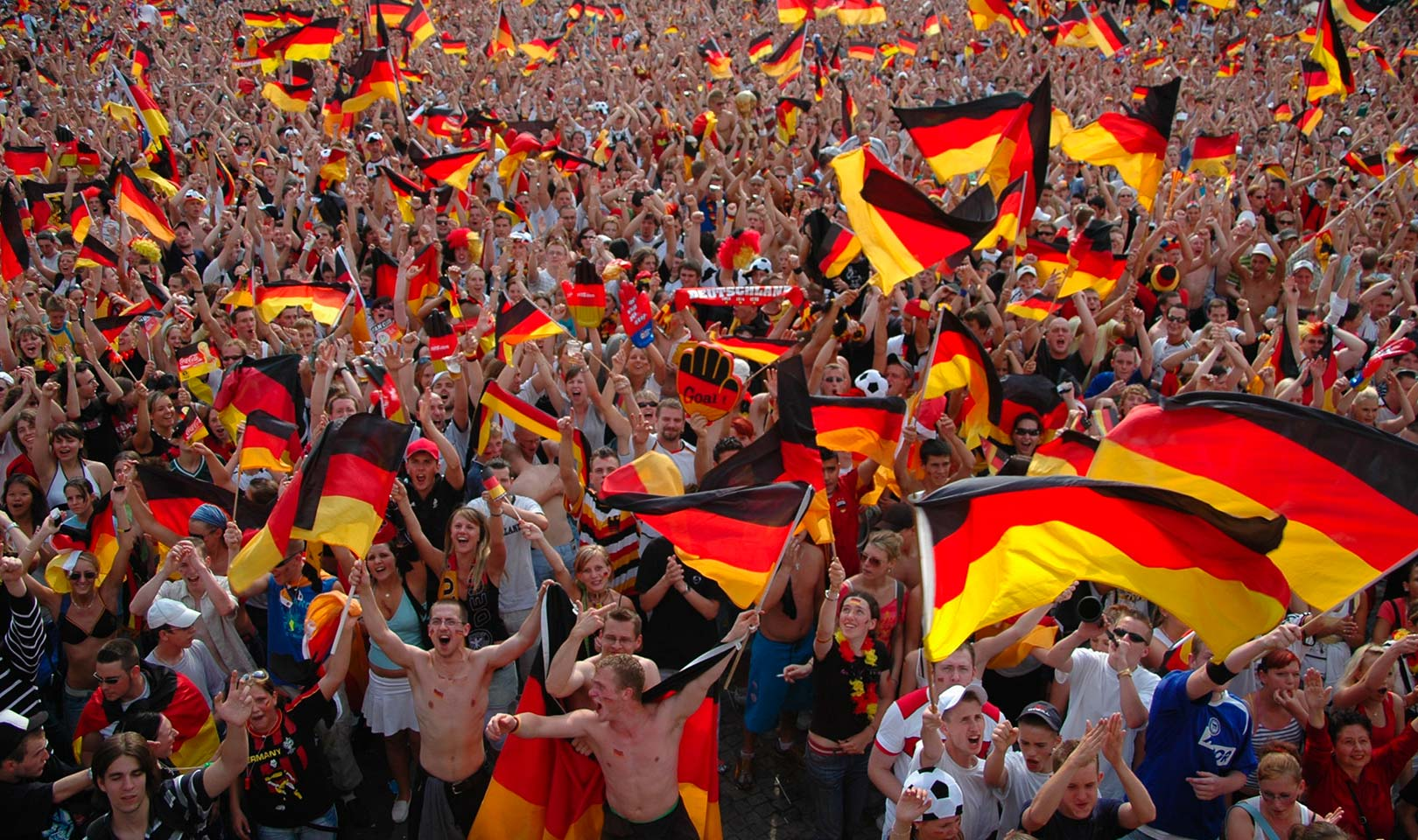 German football fans.